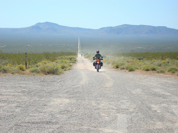 Coming out of Mojave Preserve onto US 93 Day 9