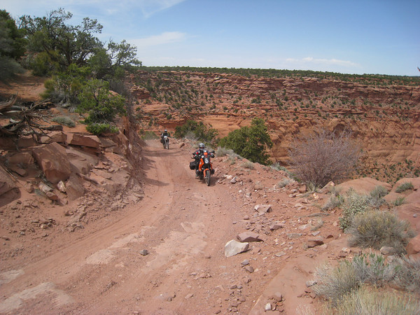 Road to Flint Trail/Maze junction.  Just past Doll House/Dirty Devil junction Day 3