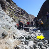One more casualty at the Goler steps doesn't intimidate Nicole's choice of lines.