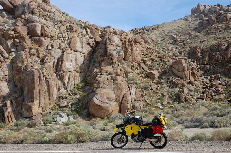 HWY 178 lures riders from all over with a taste of Death Valley's magical boulders.