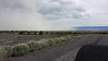 Hwy 31 between Bend and Lakeview, OR. Dustorm from Summer Lake. Rain, hail, high winds and duststorm riding.