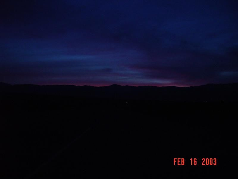 Sunset over Stove Pipe Wells