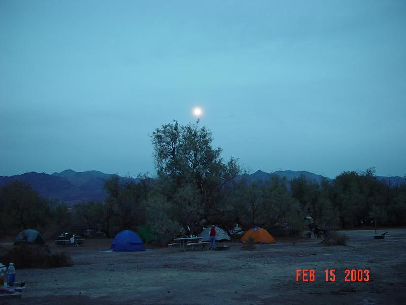 Moon rise over our camp ground