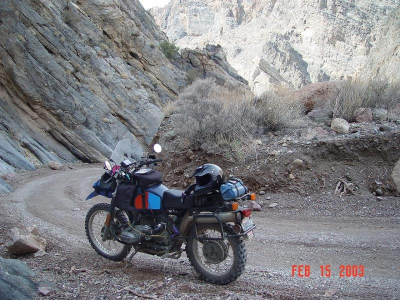 Entering the narrow part of Titis Canyon
