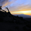 Mt San Jacinto at sunset.