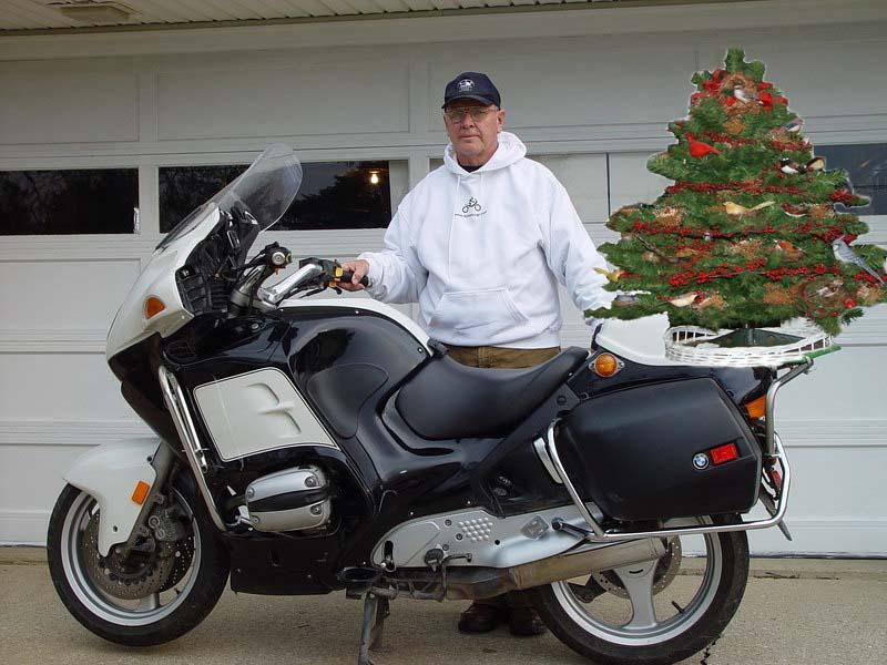 Before Deer.  Christmas tree is a joke.<br /> The bike is a former California Highway patrol unit.