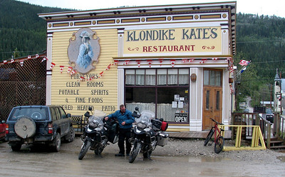 Got a room, shower, meal and a few beer's at Klondike Kate's. It doesn't get dark here in the summer....too far north!