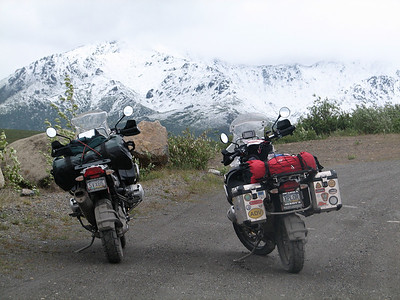 Crossing the pass....