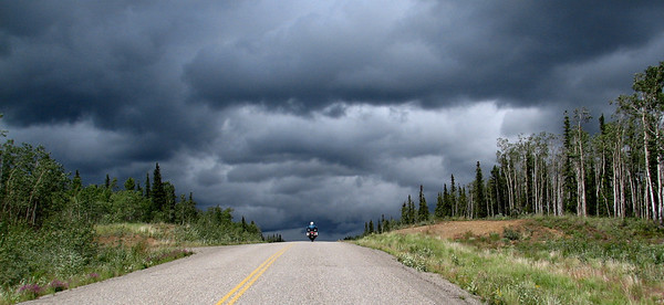 Headed to Dawson, Yukon........looks like we're in for some weather!!