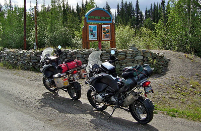 "The Dempster Highway is a 400+ mile dirt road to Inuvik, where the original ""Ice Road Truckers"" drive the rivers in winter. There is no other way to get there except by plane. Before we started we found out the road was washed out at 140 miles.......we decided to go as far as we could and then either camp or come back."