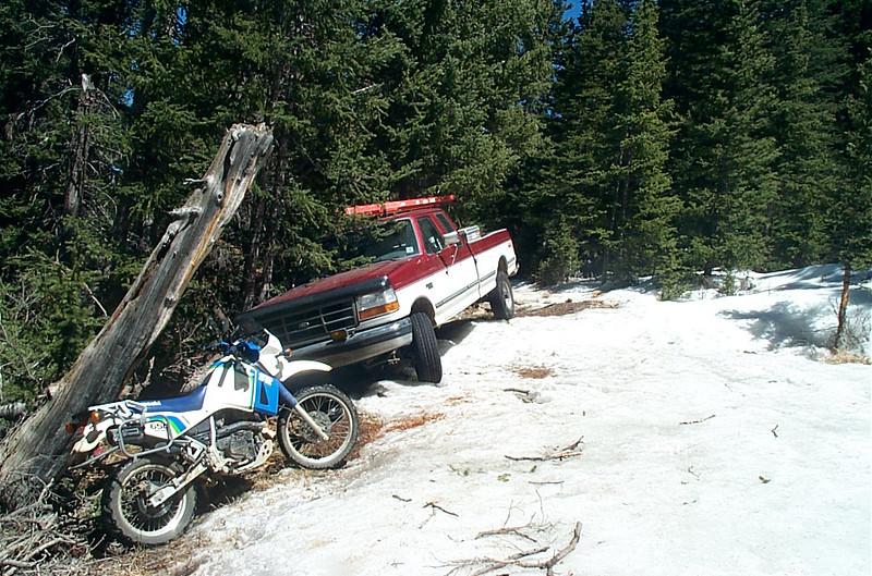 Stuck Truck and KLR 650