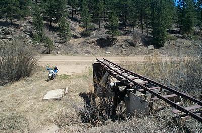 Abandoned mining rail road