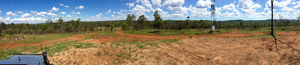 Panorama from Telstra hill. Great phone reception sitting on the roof up here, and awesome 360deg views in glorious weather.
