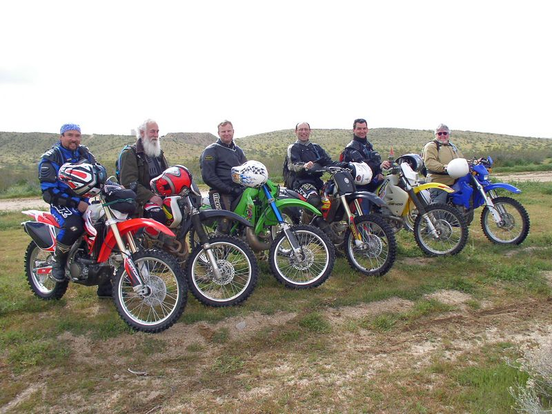 Steve, Joel, Hans, Earl, Me and Mike in the desert