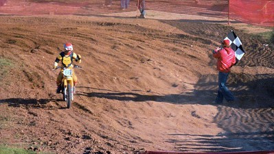 1st place overall - 3rd and 2nd moto finishes - I'll take it!