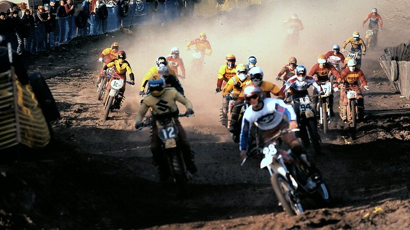 Magoo #28, Number 12?, Jim Gibson? #94, Me way back there eating dust.