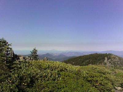 Top of Windy Peak, est. 6,500'