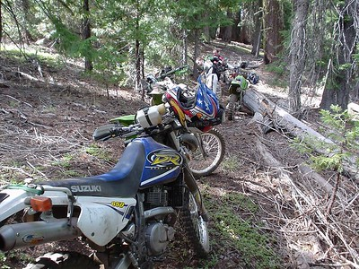 """Top of Golden Stair  And my big blue pig!  Brad asked me """"How'd you make it 'round those switchbacks?""""  I said """" I got off and picked up the backend and turned 'er around""""  Brad just looks at me like, yeah right!"""