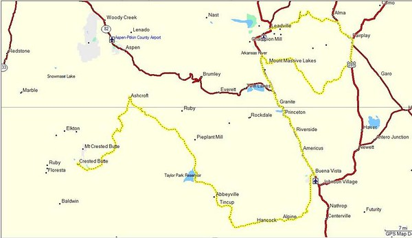 Leadville to Crested Butte.