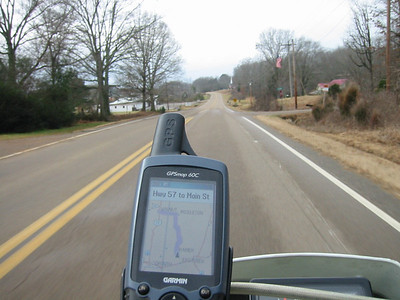 Ridin' the road to meet DC950. This is near Ramer, TN.