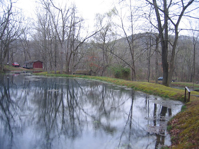 Several ponds were hand dug to created the required water reserves to operate the mill.