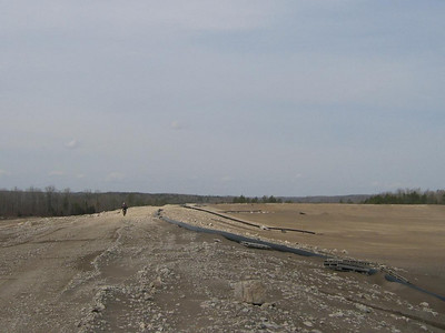 Fletcher Mine Tailing pond dam.