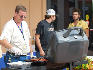 02 Bob making hotdogs for 2 Wheel Tuesday at J&P Cycles Destination Daytona