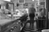 Ghostly look behind the diner counter