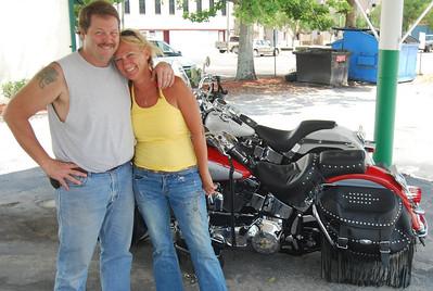 Steve, Jean and bikes