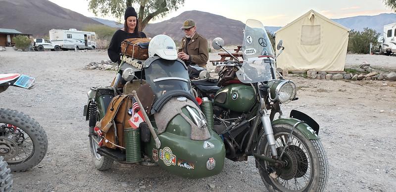 Tim and his sidecar-riding dog talks to Stephanie