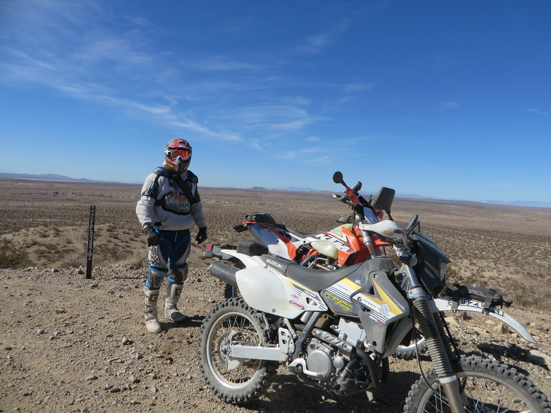 Matt enjoying the view north of Kramer junction