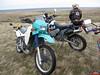 Brad's KLR in the front, Myram's KTM in the rear.