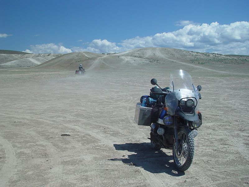 Some of the hills in the back ground would have been fun to try on the big GS's if we weren't loaded so heavily.