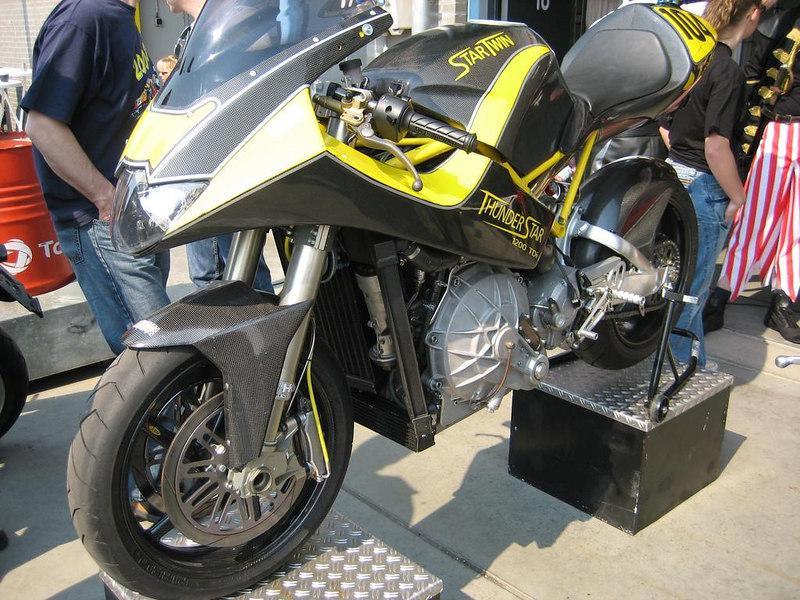 Huge 1200cc diesel engine on a Ducati Monster