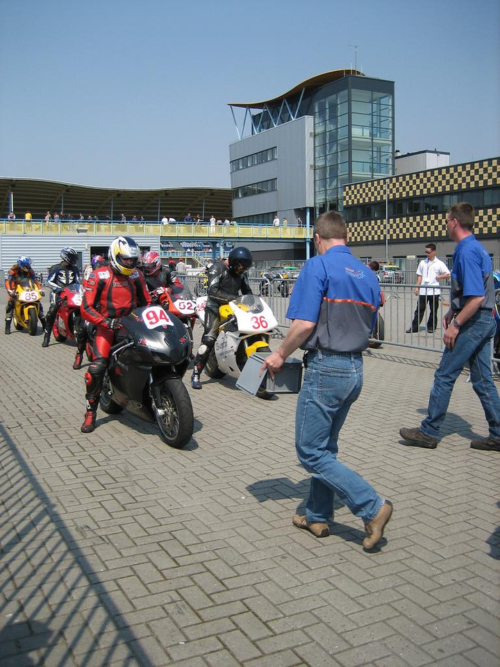 End of a race, where all riders gather, hand over the telemetry hardware and receive some papers.