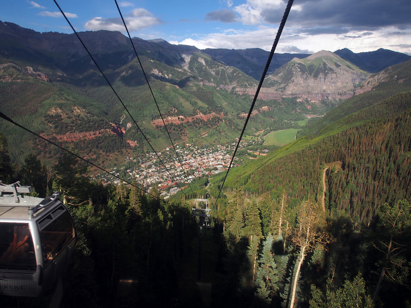 City of Telluride, CO as seen from the tram.