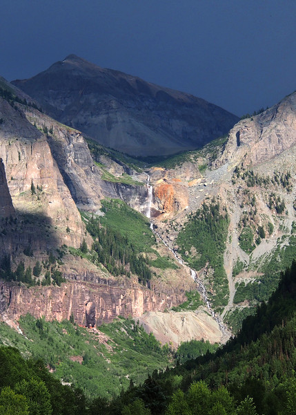 Bridal Veil Falls, Telluride, CO as seen from the tram.