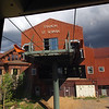 Tram station at top of mountain above Telluride.