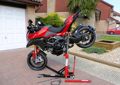 3/3: The best addition to my garage/workshop ever!......the Abba Sky Lift.....A-MAZE-ING!! The ultimate bike lift / motorcycle stand for your Multistrada 1200! http://abbastands.co.uk