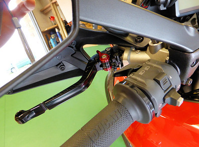 3/4: Latest addition to my Multistrada 1200 - pair of Pazzo front brake and clutch levers from www.speedycom.co.uk UK distributors for: EVR RACING PRODUCTS  ~  EXAN EXHAUSTS  ~  LUIMOTO SEAT COVERS  ~  MWR AIR FILTERS  ~  PAZZO RACING LEVERS ~ SERVO BUDDY  ~  TECH SPEC GRIPSTER TANK PADS