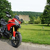 8/10: 2012 SV1000 Owners Meet, Chesterfield, Derbyshire - Sat rideout - quick stop at Chatsworth House, Chatsworth, Bakewell, Derbyshire. Multistrada 1200 photo op! lol