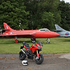 2/5 - Kemble Airport, Gloucestershire - 'retired' Hawker Hunter aircraft and of course my Multistrada 1200 :-)