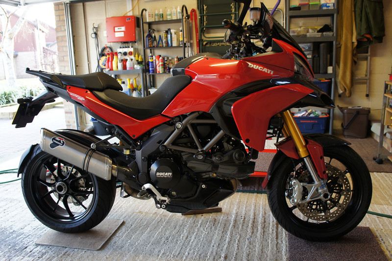 1/2: Noticed a pair of black rear plastic panels for the Multistrada 1200 on eBay a while back, always like to be different. Before and...