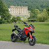 7/10: 2012 SV1000 Owners Meet, Chesterfield, Derbyshire - Sat rideout - quick stop at Chatsworth House, Chatsworth, Bakewell, Derbyshire. Multistrada 1200 photo op! lol
