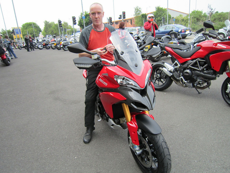 Saturday 05Jun2010 - almost ready to go, doesn't look it but I'm HAPPY, honest! (looks a bit like I'm chewing a wasp lol). Me and my MTS1200S Sport outside Riders Bridgwater ready to go. A non 'S' MTS1200 in the background fresh out the crate. <b>My website: www.mts1200.info</b>