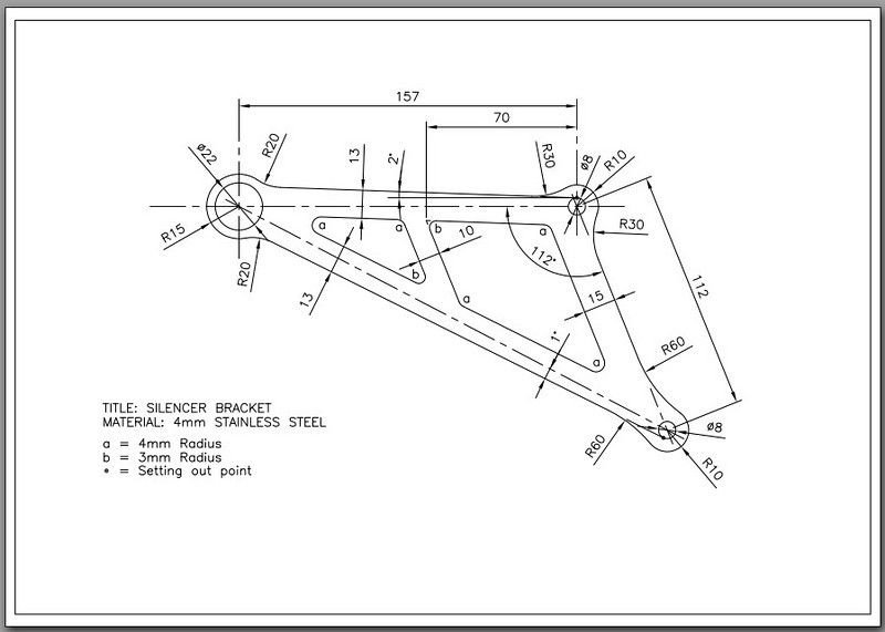 """Design Schematic - AndyW's ( <a href=""""http://www.MTS1200.info"""">http://www.MTS1200.info</a>) custom exhaust hanger for Termignoni full exhaust systems COPYRIGHT ANDYW<br /> See here for more info: Andy's Custom Multistrada 1200 / MTS1200 bits!... <br />  <a href=""""http://www.motorcycleinfo.co.uk/index.cfm?fa=contentGeneric.psqlmptrfsppjcbe&pageId=2171285"""">http://www.motorcycleinfo.co.uk/index.cfm?fa=contentGeneric.psqlmptrfsppjcbe&pageId=2171285</a>"""