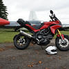 4/5 - Kemble Airport, Gloucestershire - 'retired' Hawker Hunter aircraft and of course my Multistrada 1200 :-)