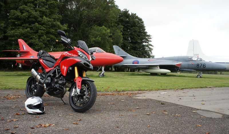 5/5 - Kemble Airport, Gloucestershire - 'retired' Hawker Hunter aircraft and of course my Multistrada 1200 :-)