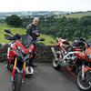 9/10: 2012 SV1000 Owners Meet, Chesterfield, Derbyshire - A prospective Multistrada 1200 owner! :-O<br /> Sun rideout - rest stop at The Lathkil Hotel, Over Haddon - Bakewell - Derbyshire to admire the scenery (and the sheep!;-)