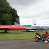 1/5 - Kemble Airport, Gloucestershire - 'retired' Hawker Hunter aircraft and of course my Multistrada 1200 :-)